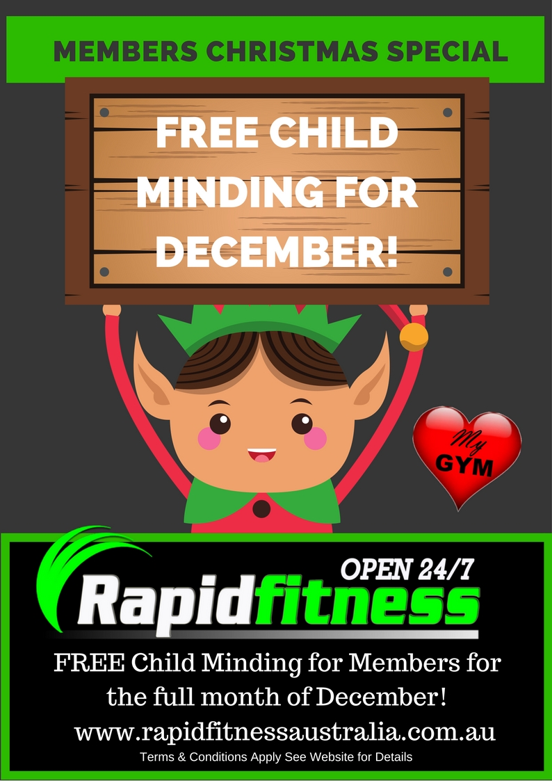 Free Child Minding - for members through December 2018!